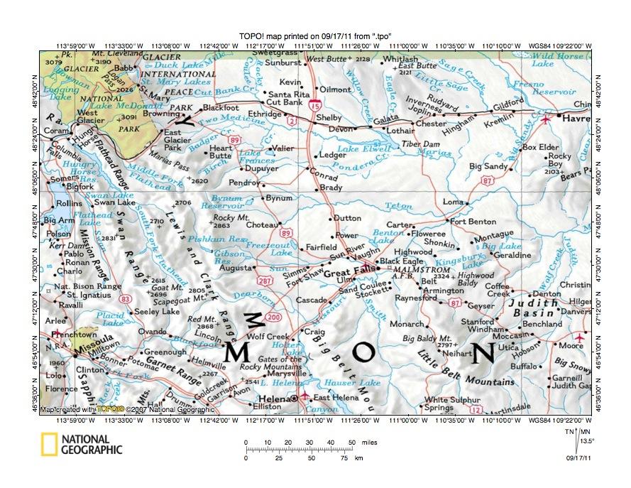 sun river montana map Montana Sun River Drainage Basin Landform Origins Overview Essay