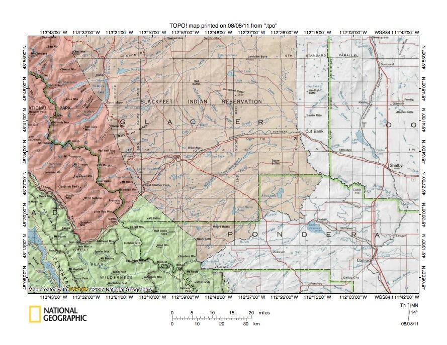 Milk River Cut Bank Creek Drainage Divide Area Landform Origins