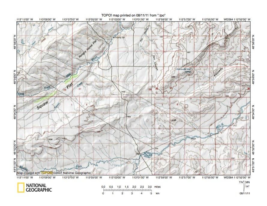 St Mary River Milk River Drainage Divide Area Landform Origins