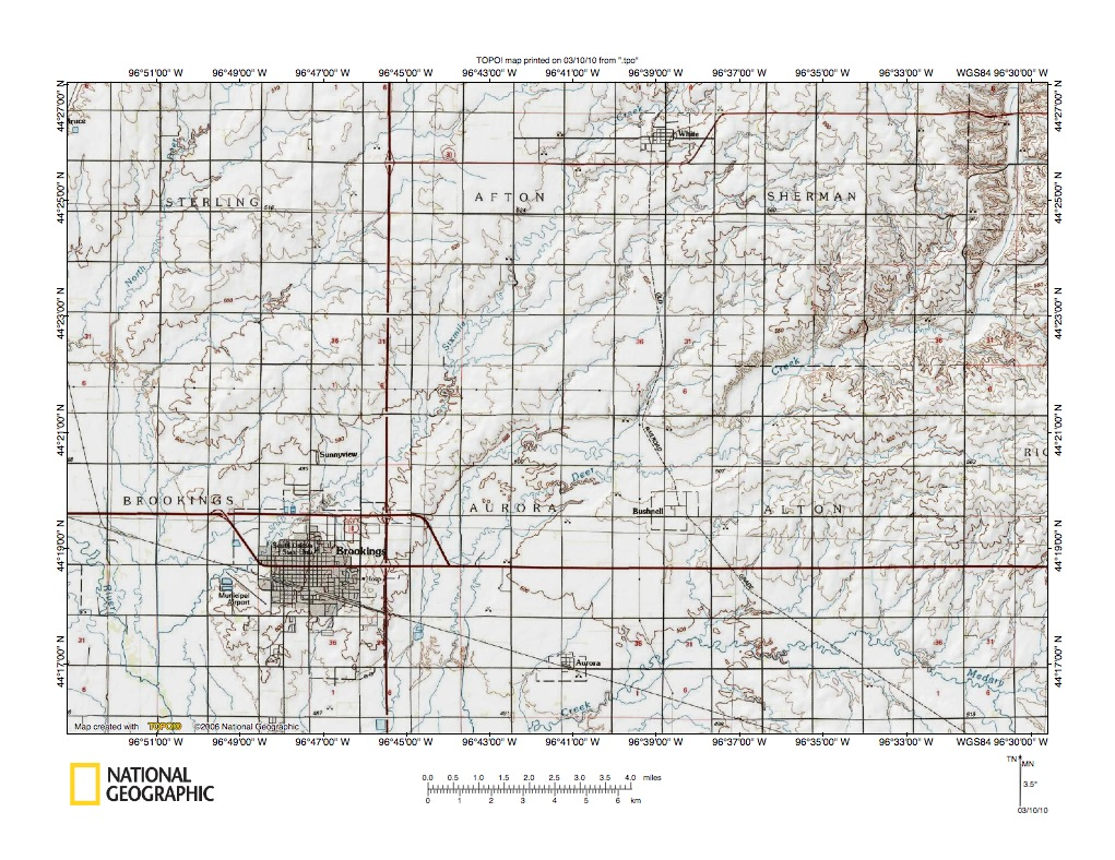 Big Sioux RiverMinnesota River drainage divide area landform