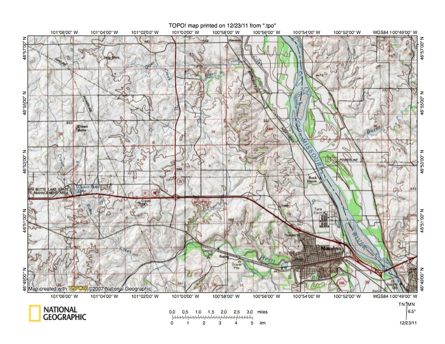 Eastern Heart River Drainage Basin Landform Origins