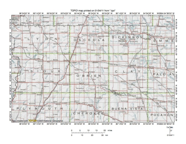 Floyd RiverLittle Sioux River Northern Drainage Divide