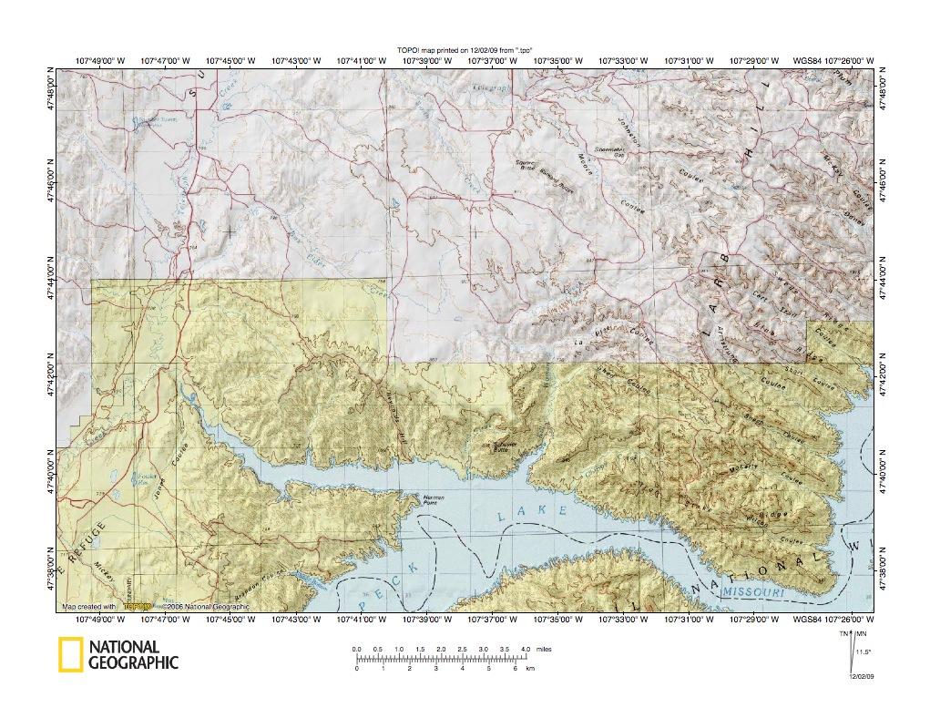 Milk RiverMissouri River Drainage Divide Area Landform