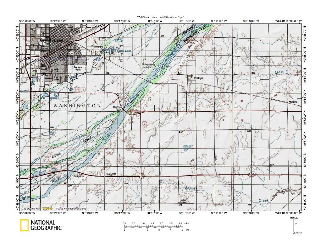 Nebraska hamilton county - Platte River Big Blue River Drainage Divide Area In Polk County