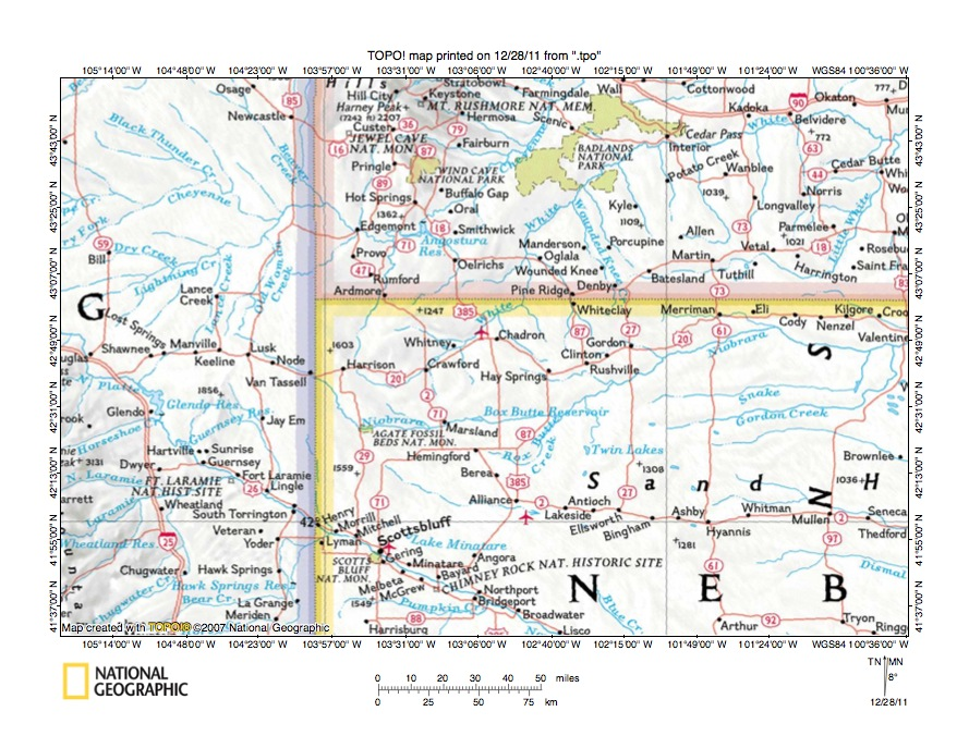 Niobrara River Drainage Basin Landform Origins Nebraska