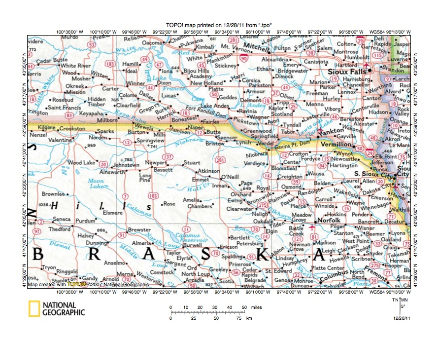 Niobrara River drainage basin landform origins Nebraska USA overview essay