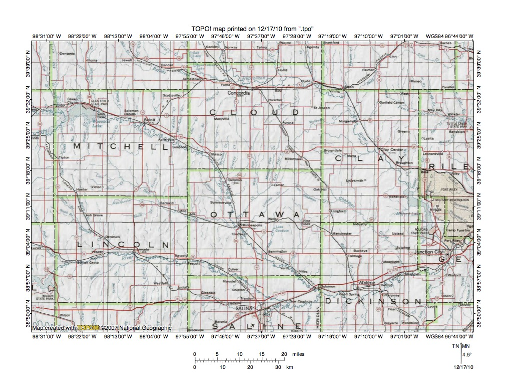 Kansas dickinson county solomon -  Map Than Figure 1 Showing Convergence Of Smoky Hill River Solomon River Saline River And Republican River To Form East Oriented Kansas River