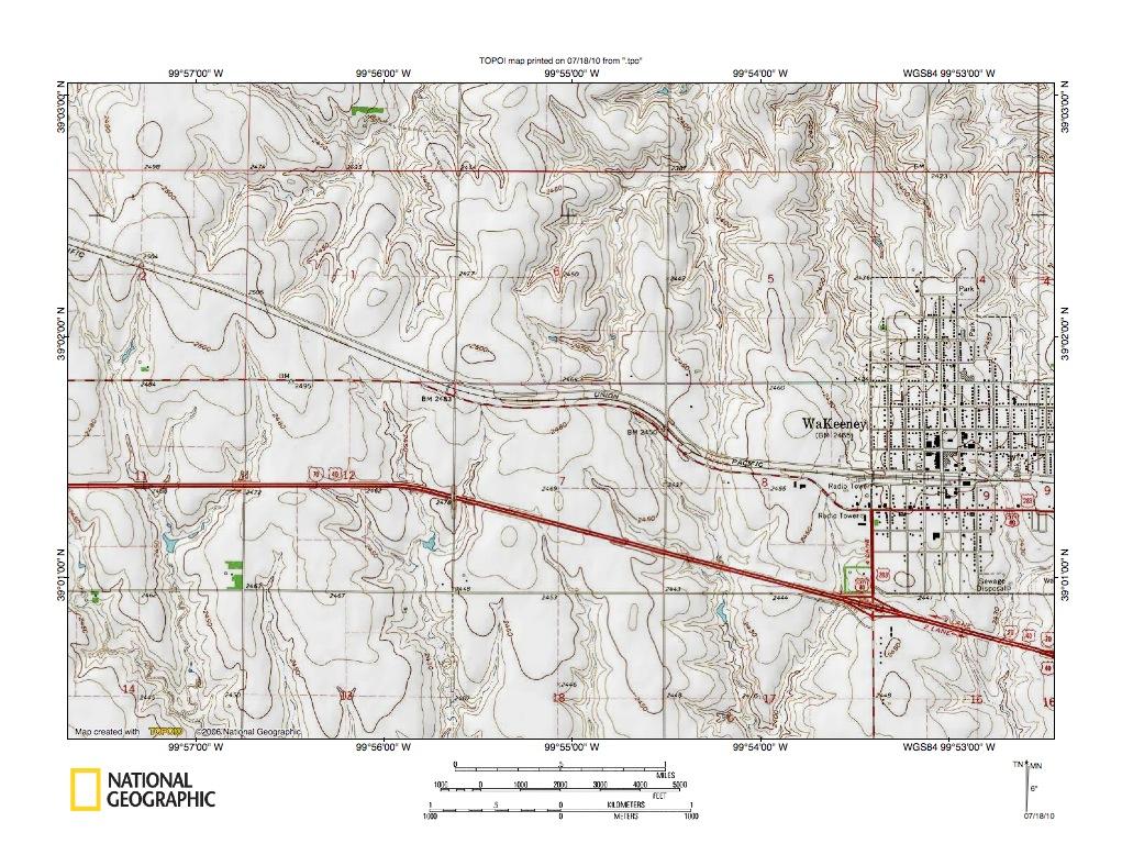 Wakeeney (KS) United States  city images : Saline River Big Creek drainage divide area west of WaKeeney, Kansas