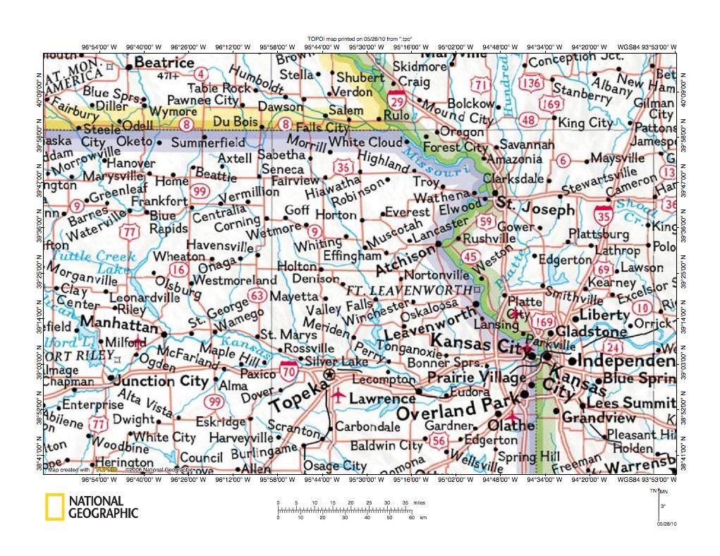 Kansas pottawatomie county fostoria - Big Blue River Delaware River Drainage Divide Area Location Map