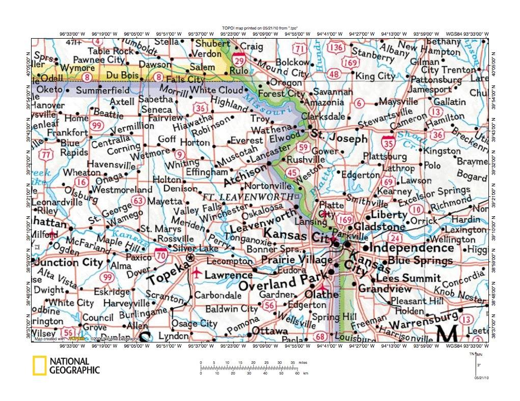 Kansas brown county everest - Delaware River Missouri River Drainage Divide Area Location Map
