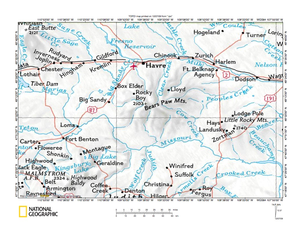 Montana blaine county hogeland - Beaver Creek Birch Creek Drainage Divide Area Location Map