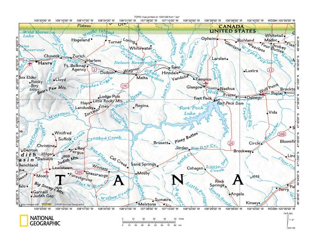Milk River Missouri River Drainage Divide Area Landform Origins