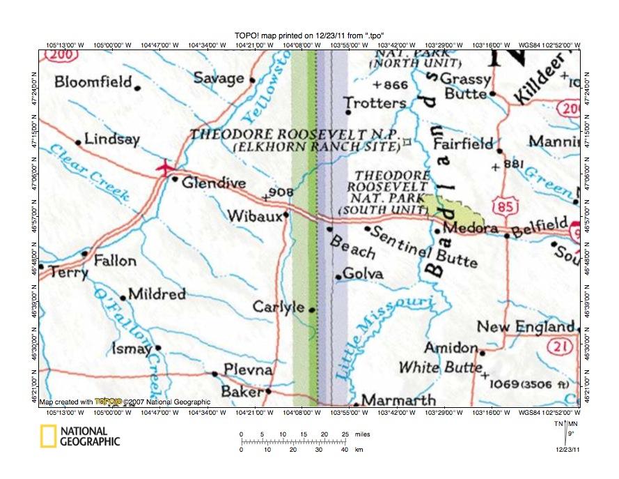 Beaver Creek Drainage Basin Landforms Along The North