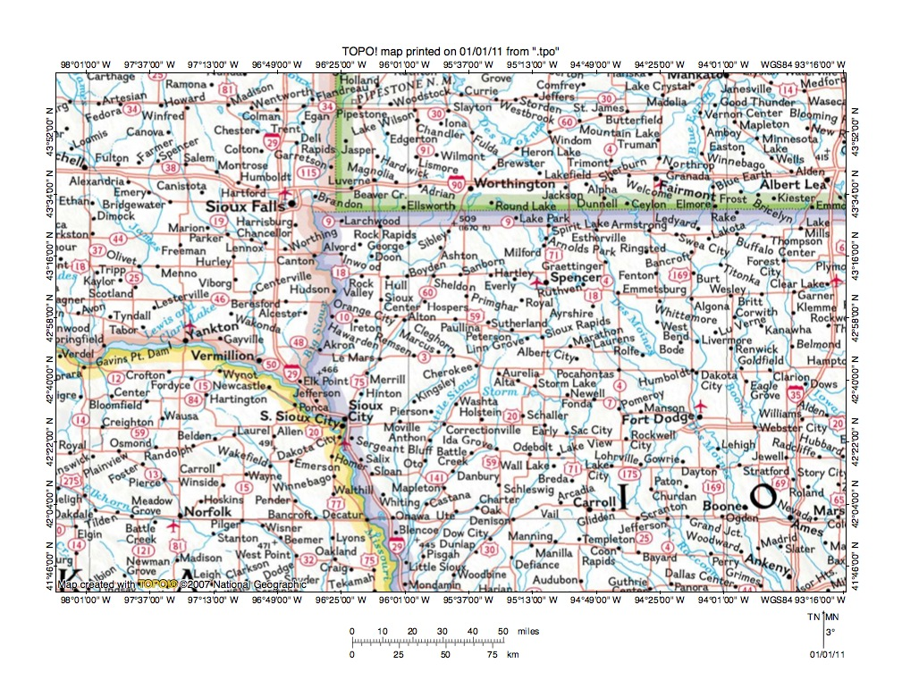 Sioux County Iowa Map.Floyd River Little Sioux River Drainage Divide Area Landform Origins