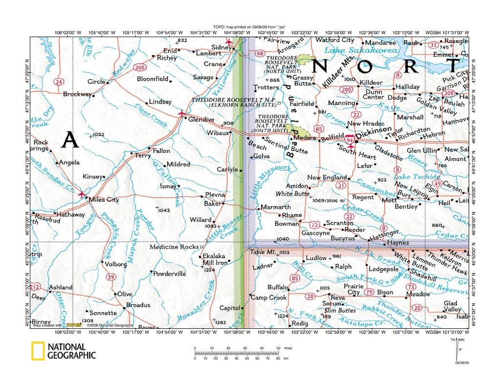 Fallon Creek-Little Beaver Creek drainage divide area location map ...