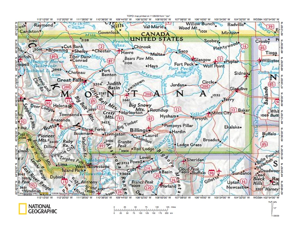 Fault Lines In Missouri Map.Missouri River Drainage Basin Landform Origins In Montana Usa
