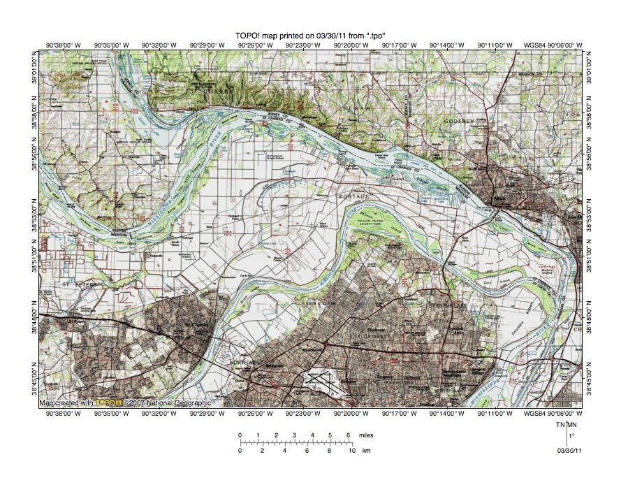 Mississippi River Topographic Map Mississippi River Missouri River drainage divide area landform