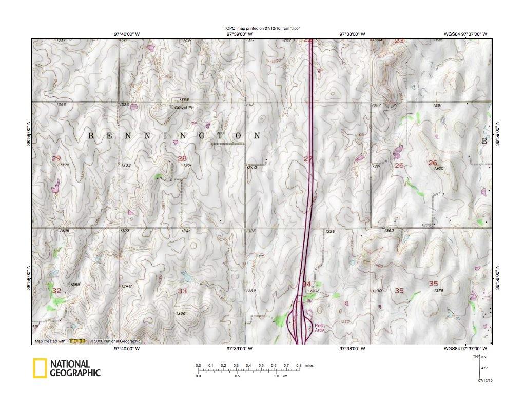 Kansas dickinson county solomon - Detailed Map Of Solomon River Saline River Drainage Divide Area North Of Salina Kansas