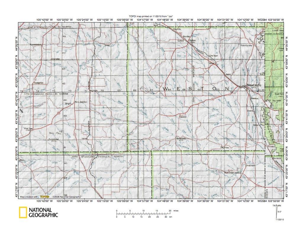 Cheyenne River Drainage Basin Landform Origins Western