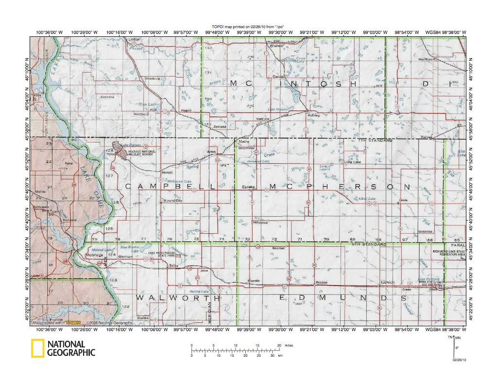 Missouri RiverMissouri Escarpment Drainage Divide Area Landform - Us map with south dakota