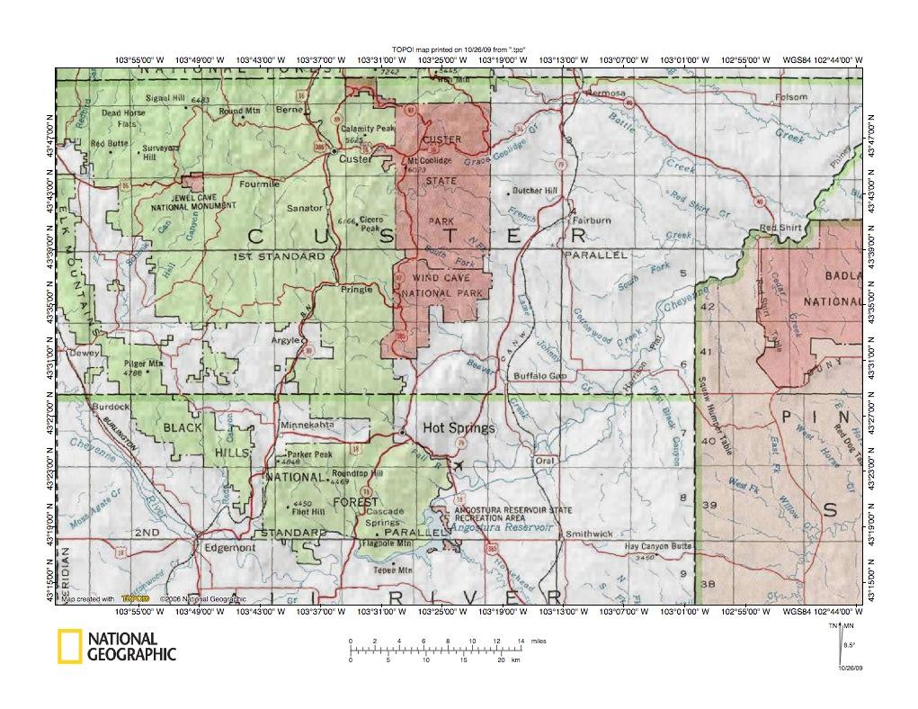 French CreekBeaver Creek Drainage Divide Area Landform