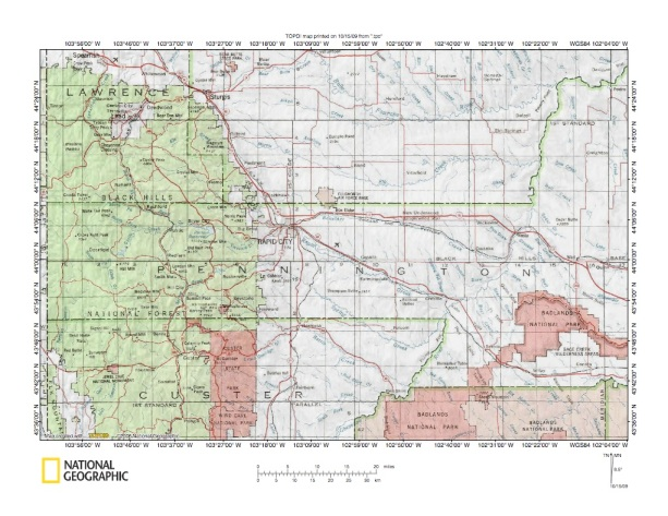 Boxelder CreekRapid Creek Drainage Divide Area Landform