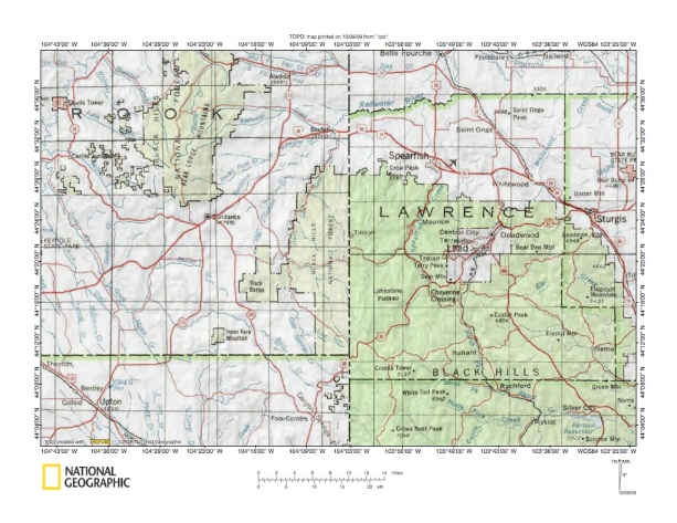 Redwater RiverSpearfish Creek Drainage Divide Area