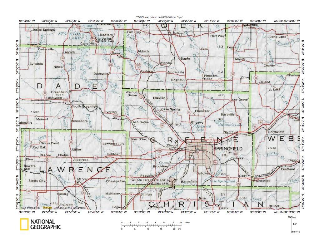 Little Sac River James River Drainage Divide Area Landform Origins - James-river-on-us-map