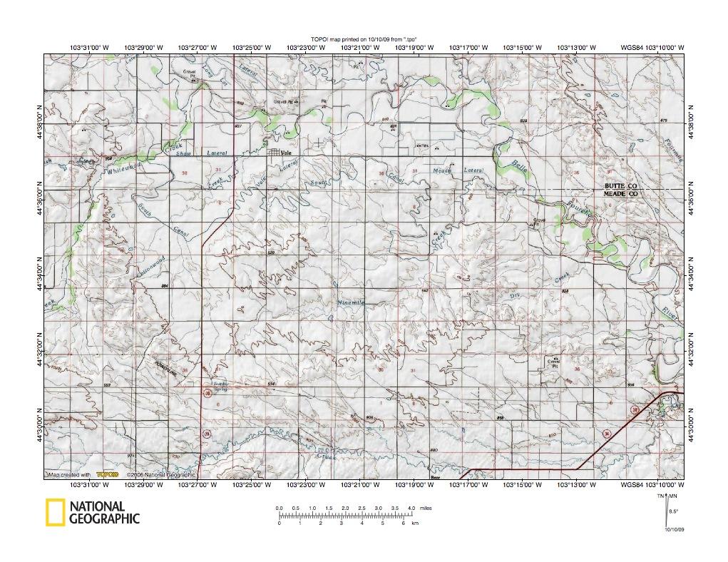 Whitewood CreekBear Butte Creek Drainage Divide Area