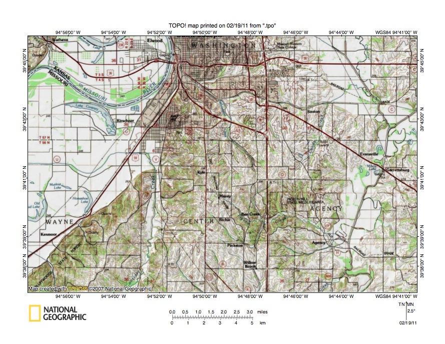 Platte City (MO) United States  City new picture : Missouri River Platte River drainage divide area landform origins in ...