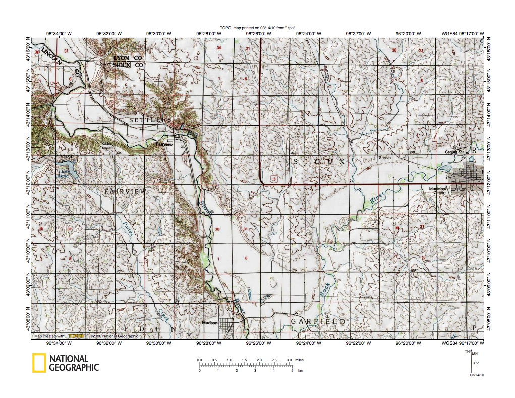 Big Sioux RiverRock River Drainage Divide Area Landform Origins - Us map with south dakota
