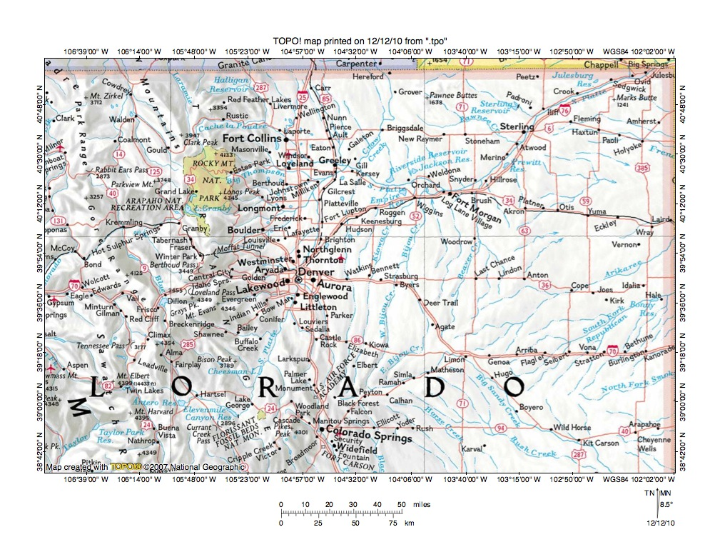 Platte River Drainage Basin Landform Origins Colorado Wyoming - Map of northeast us rivers