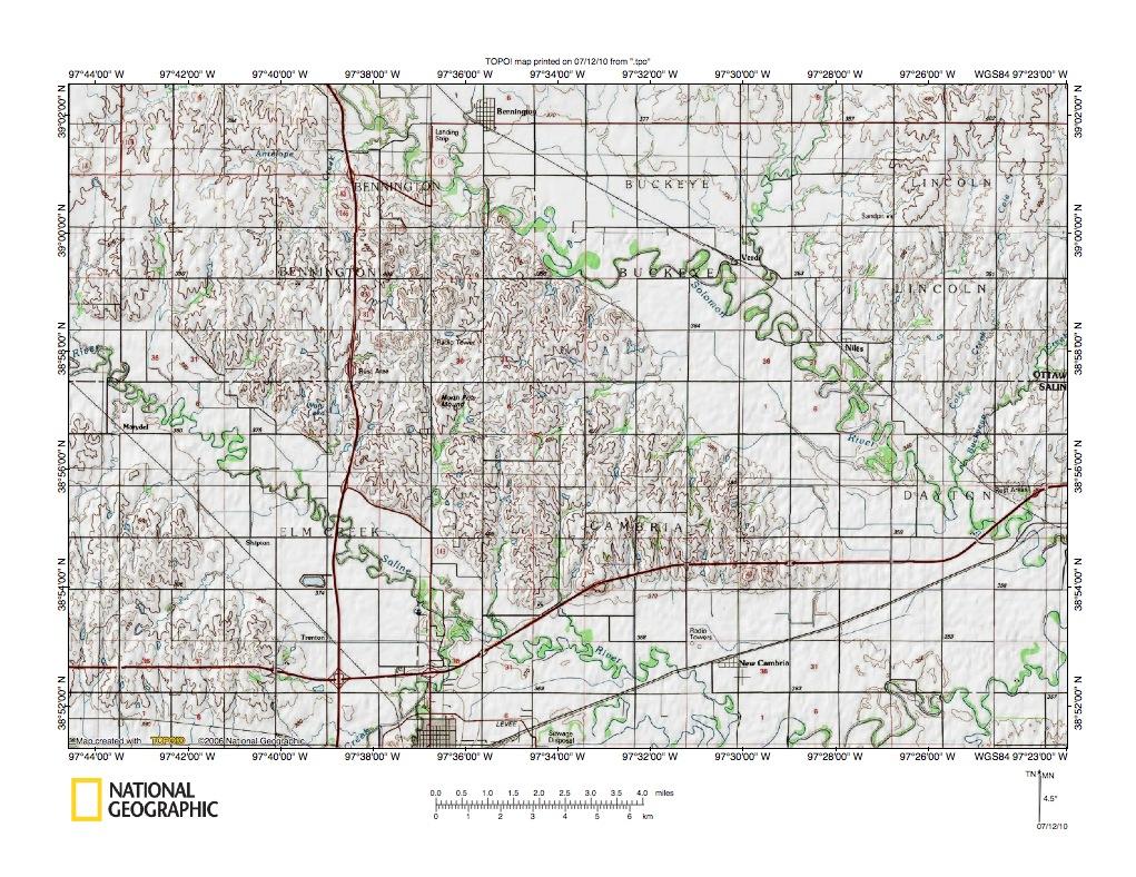 Kansas dickinson county solomon - Solomon River Saline River Drainage Divide Area North Of Salina Kansas