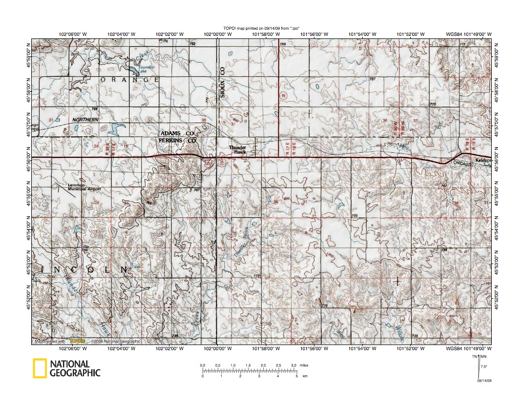 Cannonball RiverGrand River Drainage Divide Landform Origins - Us map with south dakota