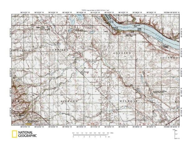 Big Sioux RiverMinnesota River Drainage Divide Area