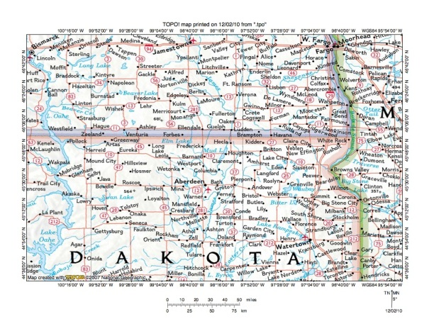Missouri River Drainage Basin Landform Origins In South