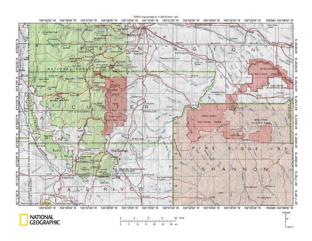 Black Hills Landform Origins South Dakota And Wyoming USA - Black hills on us map