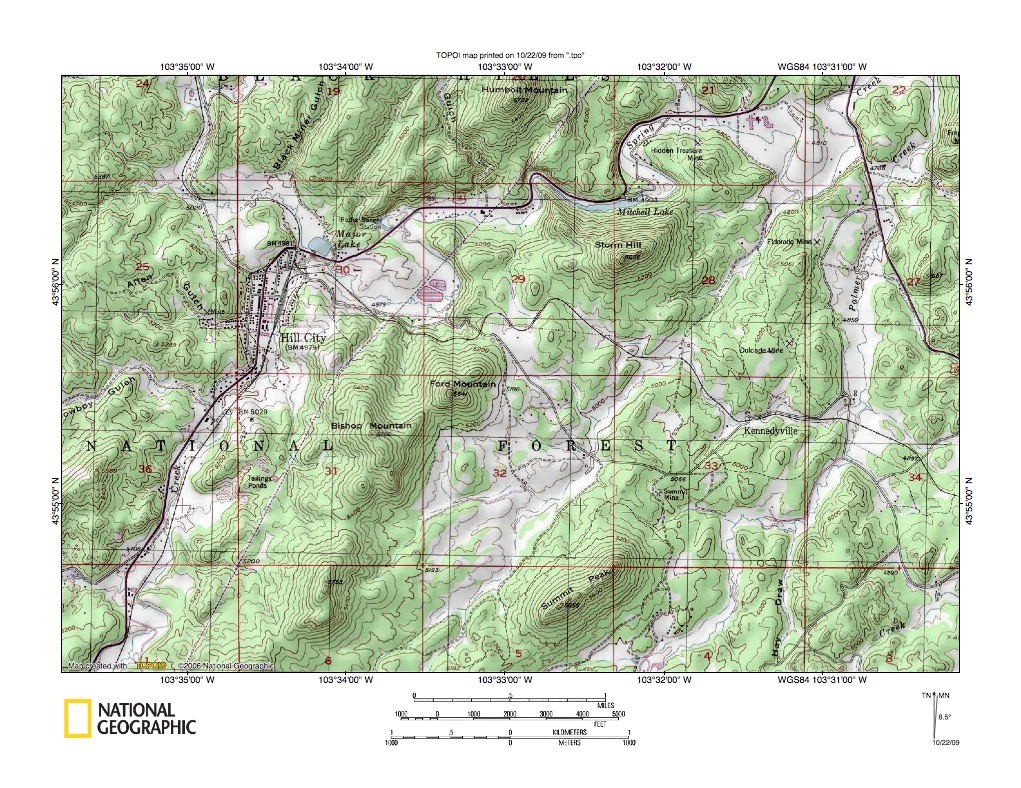 Spring Creek Battle Creek Drainage Divide Area Landform Origins