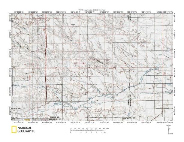White RiverNiobrara River Drainage Divide Landform