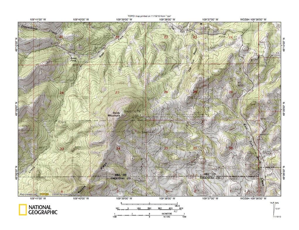 Milk River Drainage Basin Landform Origins Montana And Alberta Usa