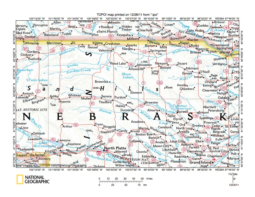 Elkhorn River Drainage Basin Landform Origins Northeast Nebraska - Nebraska rivers map