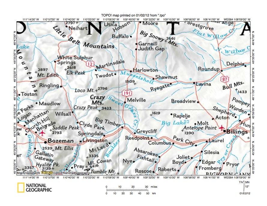 sweetgrass hills montana map Fish Creek Sweet Grass Creek Drainage Divide Area Landform Origins