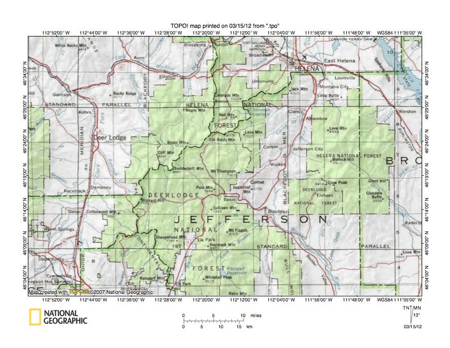 Little Blackfoot RiverBoulder River Drainage Divide Area