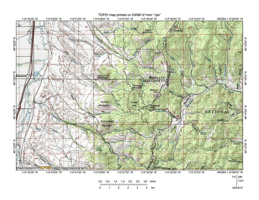 Clark ForkBoulder River Drainage Divide Area Landform