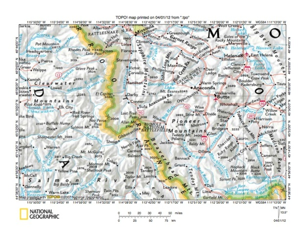 Big Hole RiverSalmon River Drainage Divide Area Landform