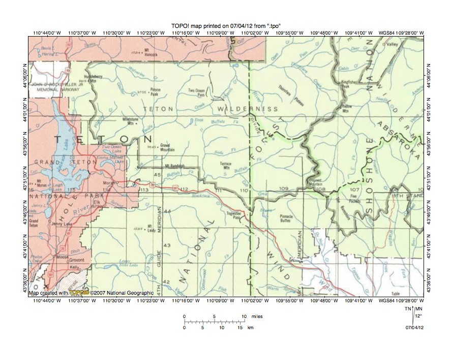 South Fork Shoshone River Snake River Drainage Divide Area Landform - Us-map-snake-river