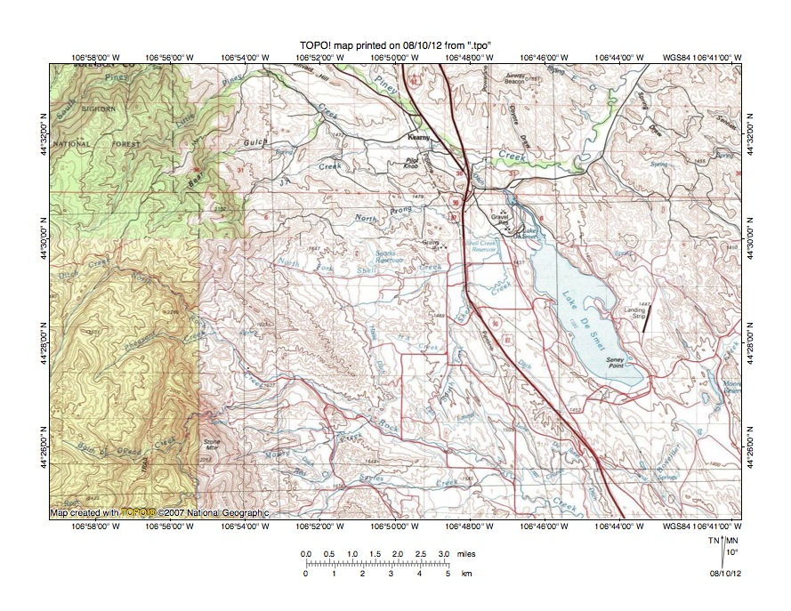 Piney CreekClear Creek Drainage Divide Area Landform Origins In - Bighorn mountains map us