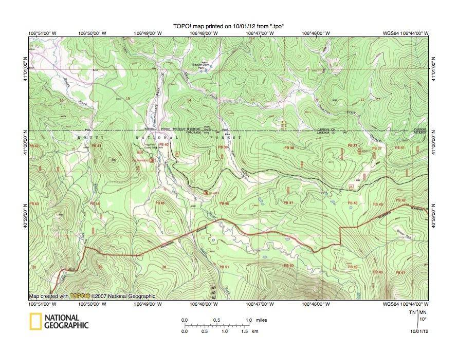 North Platte River Little Snake River Drainage Divide Area Landform