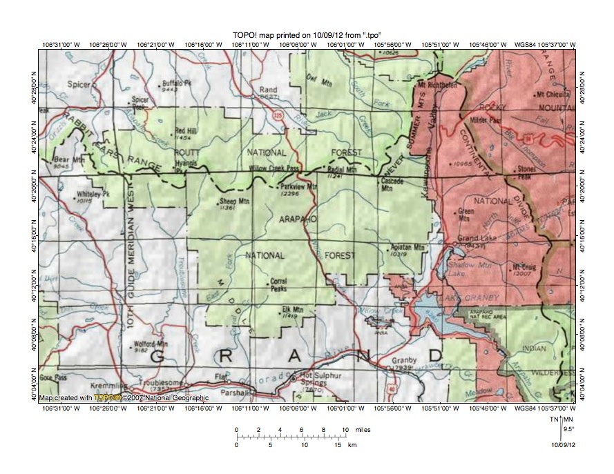 Illinois RiverColorado River Drainage Divide Area Landform - Colorado river on us map