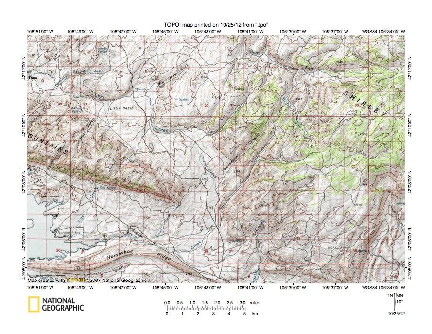 Sage CreekMedicine Bow River Drainage Divide Area